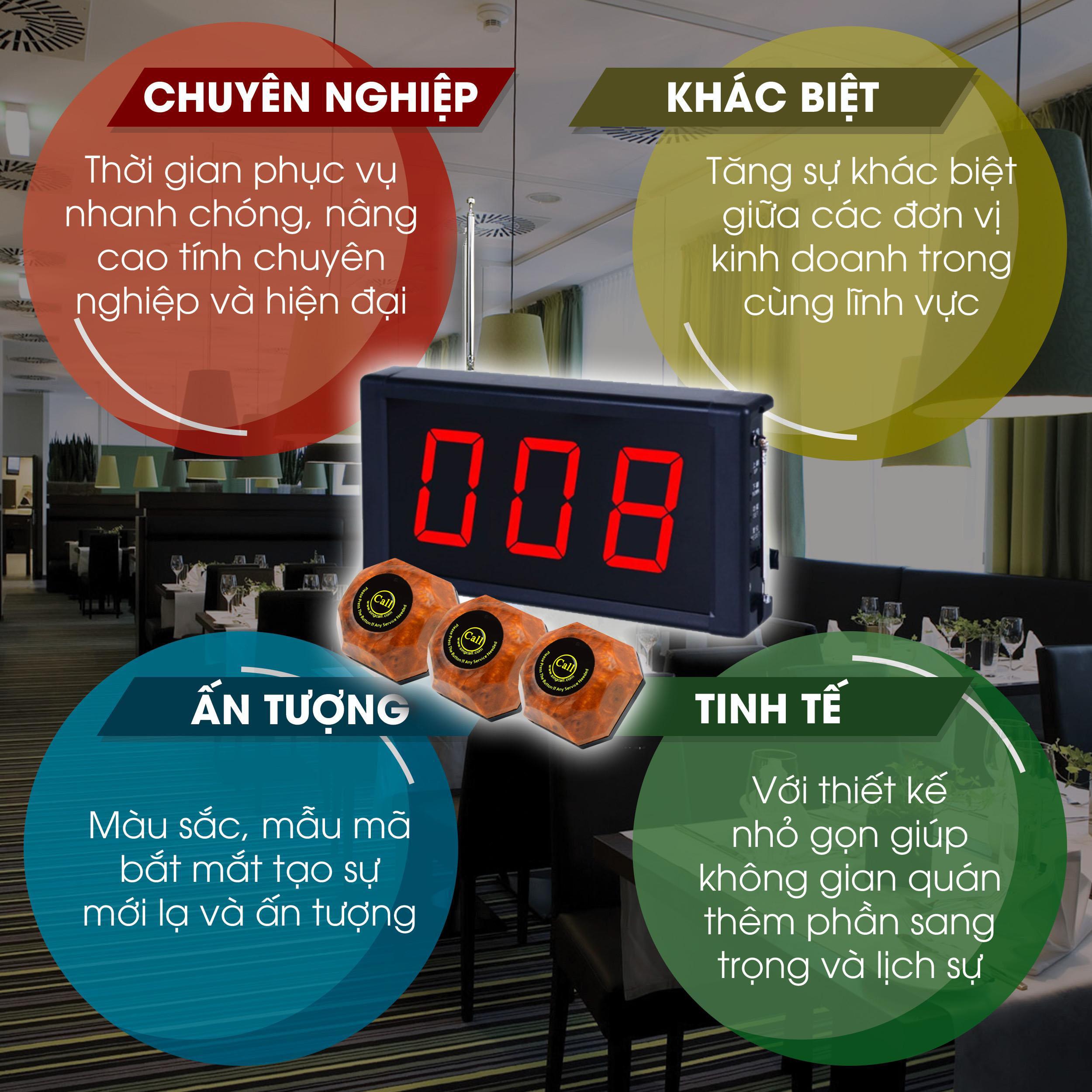 lợi ích chuông gọi phục vụ cho nhà hàng